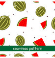 seamless pattern of watermelon on a white vector image vector image