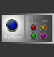 set colored glass buttons vector image