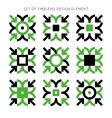 Set of emblems design element-02 vector image