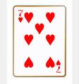 seven hearts vector image vector image