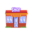 shop building on a white vector image vector image