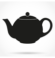 Silhouette symbol of classic teapot vector image