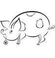 Spoony funny piggy vector image vector image
