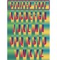 Striped artistic alphabet vector image vector image
