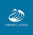 swan logo sign emblem-06 vector image vector image
