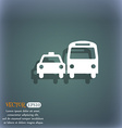 taxi icon symbol on the blue-green abstract vector image vector image