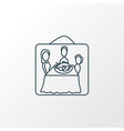 thanksgiving photo icon line symbol premium vector image