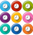 Time icons vector image