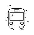 transport icon design vector image vector image