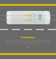 trolleybus on road conceptual flat web vector image vector image
