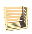 wooden box for shipping vector image