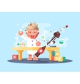 Young chemist characters vector image vector image