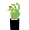 Zombie Hands Limbs green zombi cadaveric spots on vector image vector image