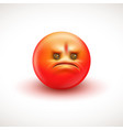 angry smiling emoticon emoji - vector image