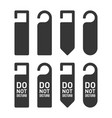 do not disturb door hanger sign set vector image