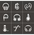 Headphone icon set vector image