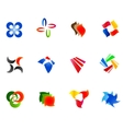 12 colorful symbols set 9 vector image vector image