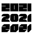 2021 year numbers vector image