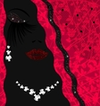 abstract background lady with jewelry vector image vector image