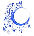Abstract banner with curls of blue color vector image vector image