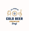 all kinds cold beer abstract beer sign vector image vector image