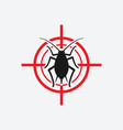 aphid icon red target vector image vector image