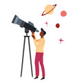 astronomy science hobor profession man vector image vector image