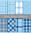 baby blue collection tartan gingham patterns vector image