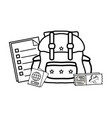 baggage with passport vector image