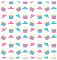 beach bag hat pattern vector image vector image