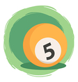 Billiard Ball Number 5 Orange vector image vector image