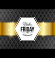 black friday design element with golden ribbon on vector image