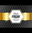 black friday design element with golden ribbon vector image