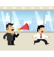Boss and employee scene vector image vector image