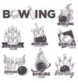 bowling club sketch championship ball vector image