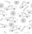 car service seamless texture vector image