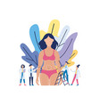 cartoon woman before liposuction procedure vector image