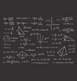 chalkboard in mathematical formulas vector image