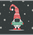christmas gnome wearing a protective face mask vector image vector image