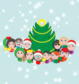 Christmas postcard with avatar composition vector image