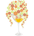 cocktail with orange lemon lime and grapefruit vector image vector image
