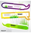 colorful stickers for speech green grass natural b vector image