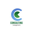 consulting management sign vector image