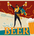 craft beer and revolution soldier vector image