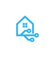 digital house logo icon design vector image vector image
