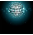 disco ball background glowing vector image vector image