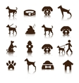 Dog icon set vector image vector image