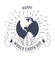 ecology and environment earth day isolated vector image vector image