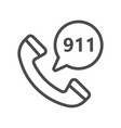 emergency calling service filled outline icon vector image
