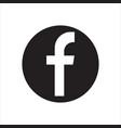 facebook logotype social network vector image